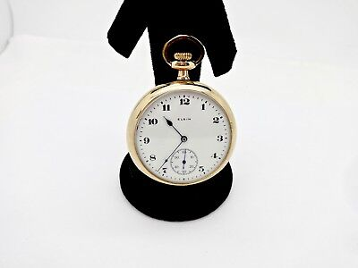 Antique Elgin 291 16S Gp Of Mechanical Pocket Watch,clean,runs
