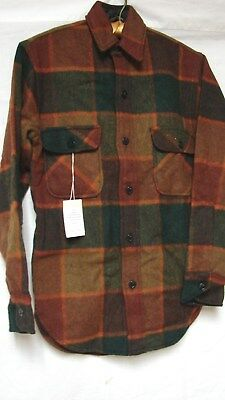 1950s NOS Vintage TOWNCRAFT PENNEYS WOOL PLAID BUTTON DOWN SHIRT
