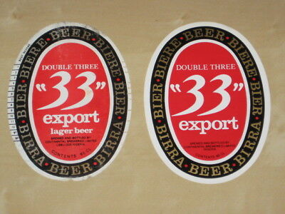 2 beer labels from Nigeria - Africa