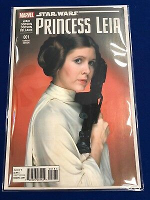 Star Wars: Princess Leia #1 Carrie Fisher Photo Variant
