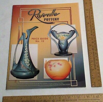 Roseville Pottery Price Guide for both  Volume 1 and Volume 2 - PRICE GUIDE ONLY
