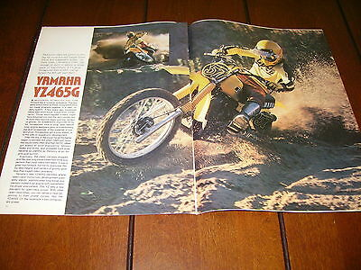 1980 Yamaha Yz465G   ***original Article / Specifications***