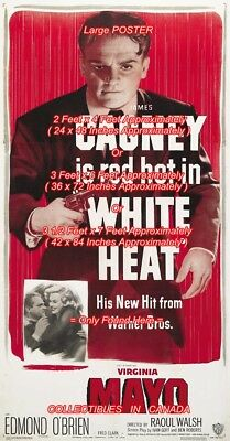 WHITE HEAT 1949 Cagney MAYO = POSTER 3 Sizes 4 / 6 / 7 FEET === Buy 2 Get 1 FREE