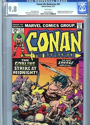 Conan the Barbarian #47 CGC 9.8 White Pages Marvel Comics 1975