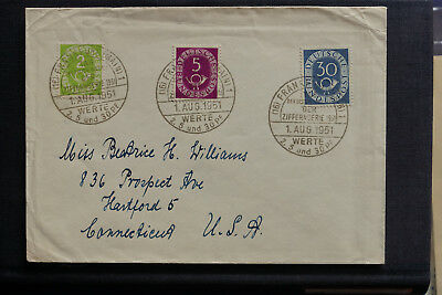 FDC Posthorn 1.August 1951 (220 Euro) Germany, cover