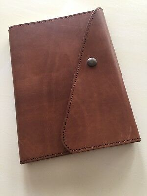 Pratesi Florence Mahogany Brown Leather Travel Notebook Diary Journal Live Love