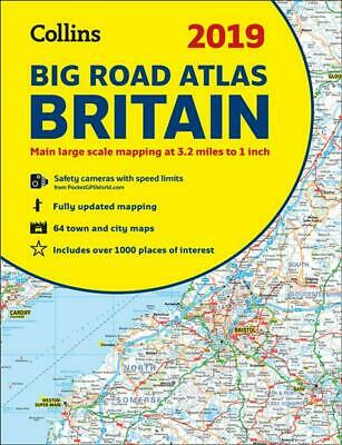 2019 Collins Big Road Atlas Britain by Collins Maps Paperback Book Free Shipping