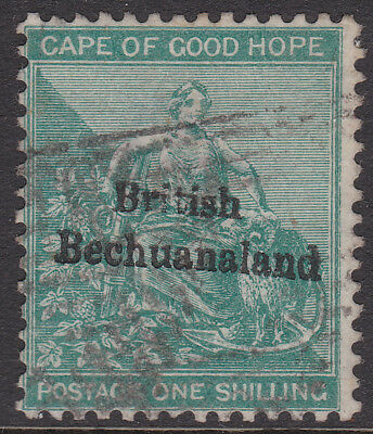 1886 QV Bechuanaland 1s green fine used, SG8 cat £180