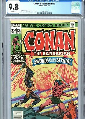 Conan the Barbarian #85 CGC 9.8 White Pages Marvel Comics 1978