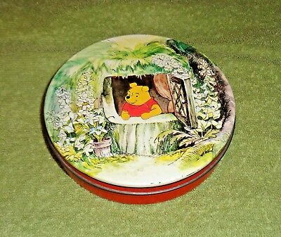 Vtg 1965 Huntley & Palmers Iced Biscuits for Children- Winnie the Pooh Round Tin