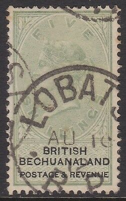 1888 QV Bechuanaland 5s green/black used, SG18 cat £160