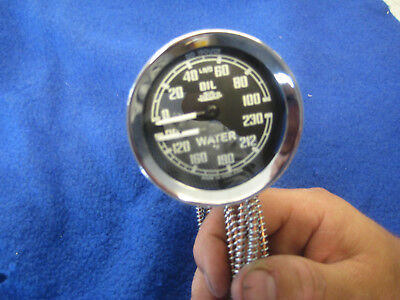 MGA / MGB JAEGER DUAL OIL WATER GAUGE - NOT SMITHS £115 outright