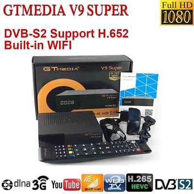 Gtmedia DVB-S2 digital satellite receiver Buit-in WIFI V9 Super HD 1080P Decoder