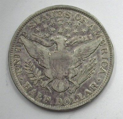 1904-O Barber Silver 50 Cents  Extra Fine+ Better Date!