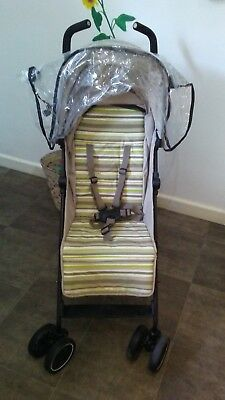 mothercare nanu stroller beige and green/ pushchair suitable for boy or girl
