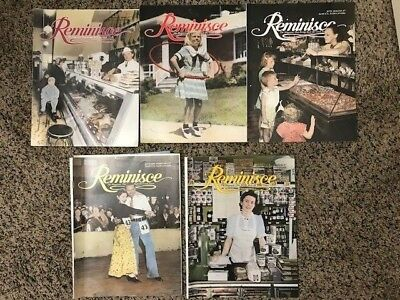 Lot of 5 1997 REMINISCE Magazines-The Magazine That Brings Back the Good Times