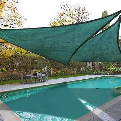 2 Set 16.5' Triangle Sun Shade Sail Outdoor Sunshade Canopy Shelter Top Cover