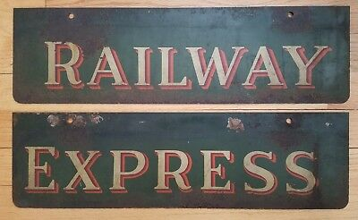 Rare Antique Metal RR Signs Railway Express Not Normal Ones You See NO Reserve