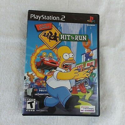 Simpsons: Hit & Run (Sony PlayStation 2, 2003) Video Game
