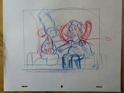 SIMPSONS TV Show Original Animation Art Cel Drawing M#61 Marge