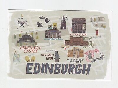 Mint Map Postcard of Edinburgh by Star Editions