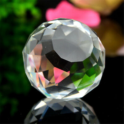 20-80mm Gazing Ball Crystal Sphere Clear Cut Home Decor Faceted
