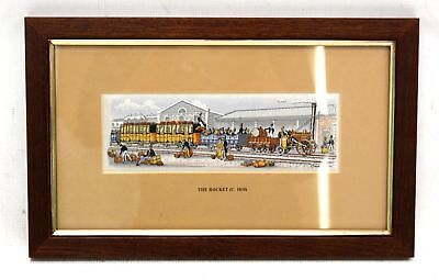 CASH 'The Rocket' Decorative Woven EMBROIDERY Artwork / Framed - N39