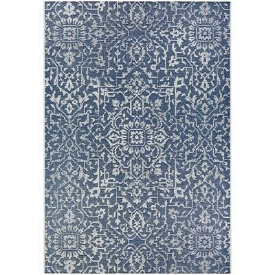 """Couristan Palmette Navy-Ivory In-Out Runner, 2'3"""" x 11'9"""" - 23296427023119U"""