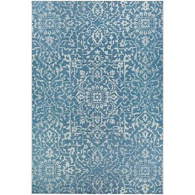 """Couristan Palmette Ocean-Ivory In-Out Rug, 2' x 3'7"""" - 23293216020037T"""