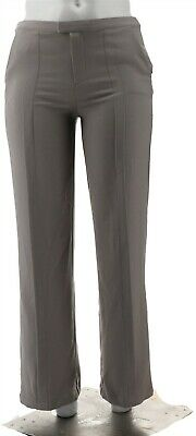 H Halston Stretch Suiting Wide Leg Pants Graphite 10 NEW A301958
