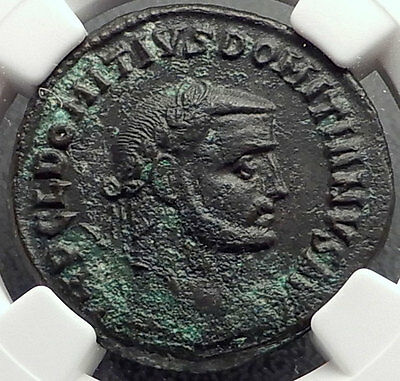 DOMITIUS DOMITAINUS Usurper vs Diocletian VERY RARE Ancient Roman Coin NGC Ch XF
