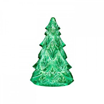 Waterford Crystal Green Christmas Tree Sculpture, NIB
