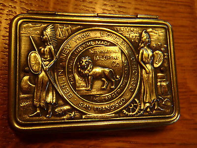 Antique Sterling? Needle Case International Tailoring Co.pat. 1904 Advertising