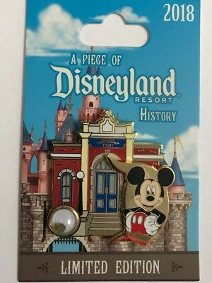 NEW Disneyland 2018 Mickey Guided Tour Building Piece of Disney History LE Pin