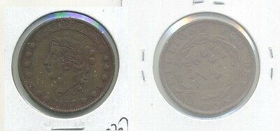 1837 Hard Times Token Not One Cent For Tribute Vf 9371E