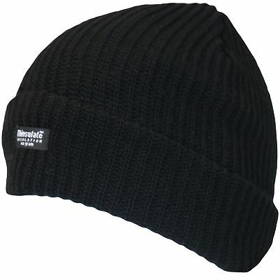 Wholesale Winter Sale 12 Thermal Fleece Lined Knitted Beanie Hats Charity £1.25