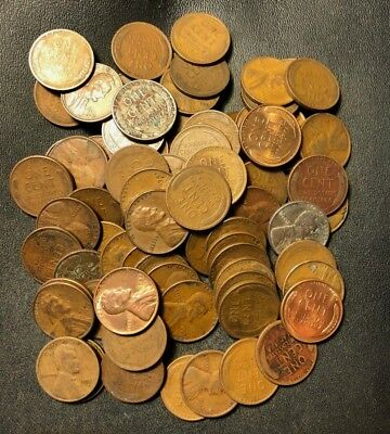 VINTAGE United States Coin Lot - WHEAT PENNIES - 80+ Quality Coins - Lot #N15