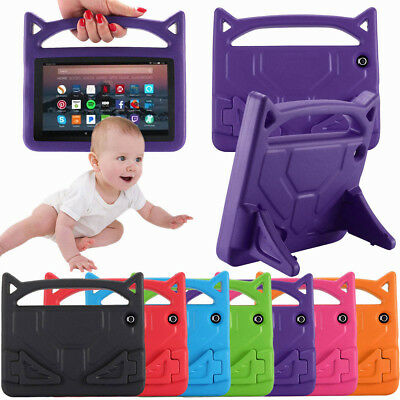For Amazon Kindle Fire HD 8 2018 8th Gen Kid Shockproof Stand Handle Tablet Case