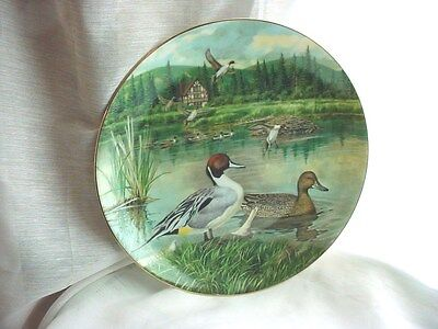Knowles Plate The Pintail Living With Nature Bart Jerner Ducks 1986 8 inch