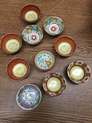 LOT of 10 Small VINTAGE SAKI CUPS  Made in Occupied Japan