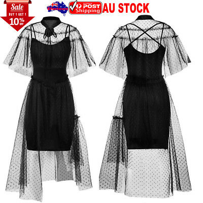 Women Vintage Swing Dress Ladies Formal Lace Dress Evening Party Cocktail Gown
