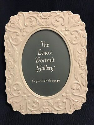 "Rare LENOX PORCELAIN GREEN MARK PICTURE FRAME For 5"" x 7"" 1931-1953 Free Ship"