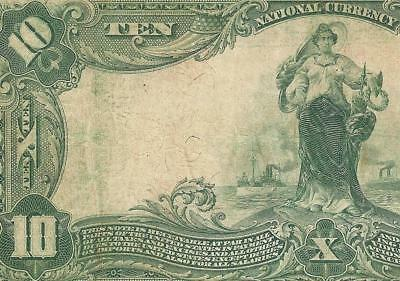 Large 1902 $10 Nashville Tennessee National Bank Note Currency Old Paper Money