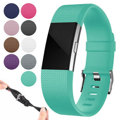 For Fitbit Charge 2 / 2 HR Replacement Silicone Bracelet Wrist Watch Band Strap