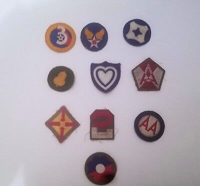 Lot of 10 WW2 Cut patches