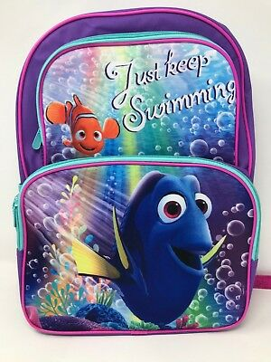 """Disney Pixar Finding Dory 16/"""" Large School Backpack w//Insulated Nemo Lunch Bag"""
