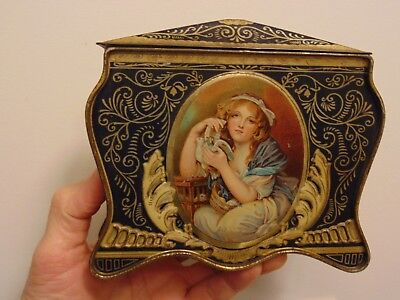 Vintage Chocolate Tin - Rowntree & Co. Cocoa & Chocolate Makers The King & Queen