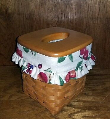 Tall Tissue Basket Liner from Longaberger Fruit Medley fabric! New! Ruffle edge