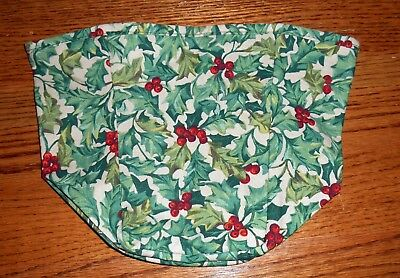 Tall Tissue Basket Liner from Longaberger American Holly fabric! New!
