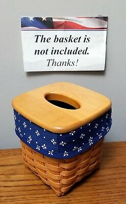 Tall Tissue Basket Liner from Longaberger Classic Blue fabric! New!